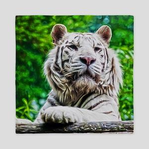 White Tiger Queen Duvet