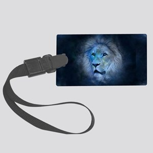 leo lion Large Luggage Tag