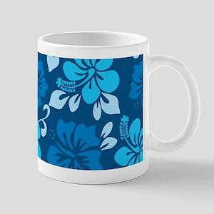 Shades of blue Hawaiian hibiscus Mug