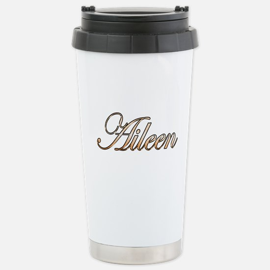 Gold Aileen Stainless Steel Travel Mug