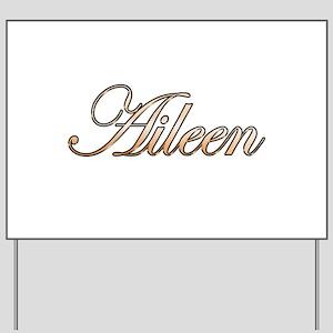 Gold Aileen Yard Sign