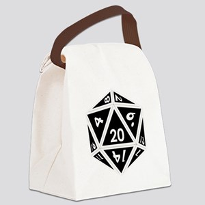 D20 black center Canvas Lunch Bag