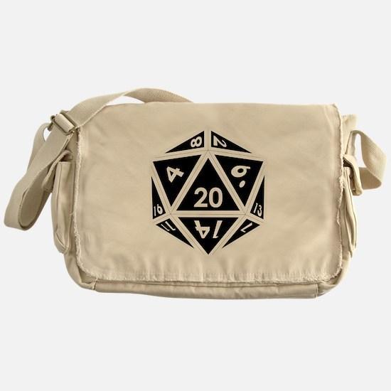 D20 black center Messenger Bag