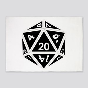 D20 black center 5'x7'Area Rug