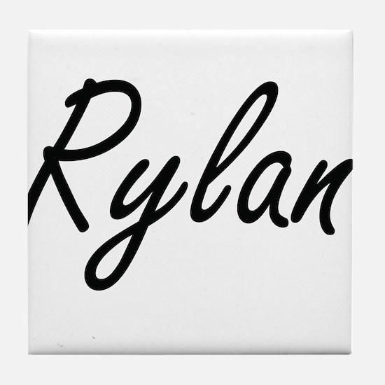 Rylan Artistic Name Design Tile Coaster