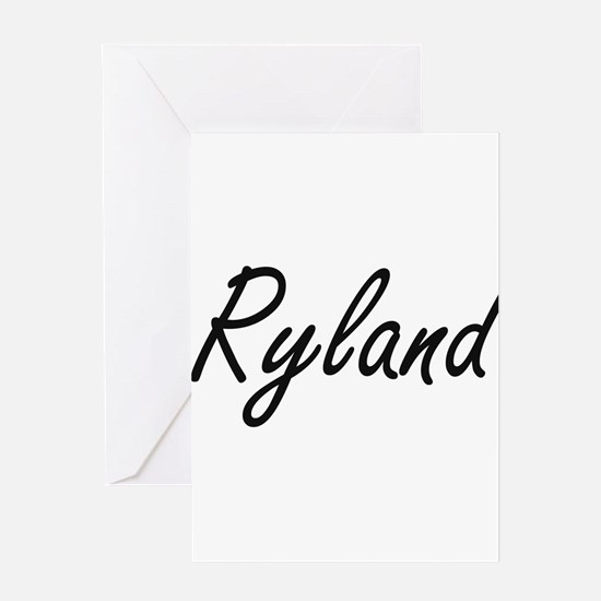 Ryland Artistic Name Design Greeting Cards