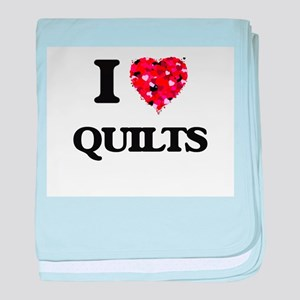 I Love Quilts baby blanket