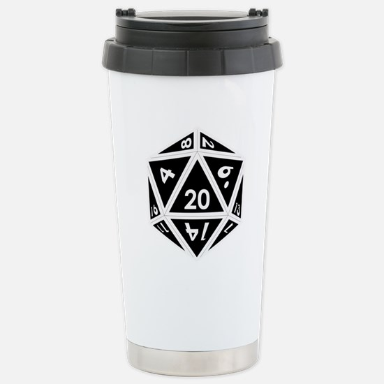 D20 black center Mugs