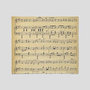 sheet music Throw Blanket