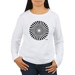 45rpm Mod Spiral Women's Long Sleeve T-Shirt