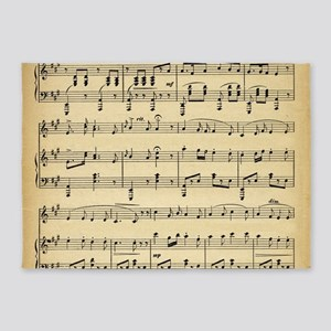 sheet music 5'x7'Area Rug