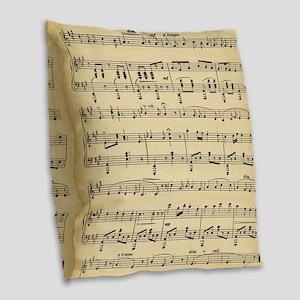 sheet music Burlap Throw Pillow