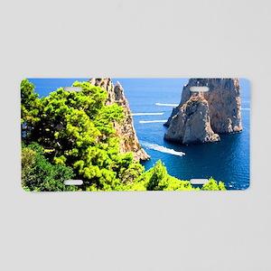 Italy, Capri Aluminum License Plate
