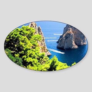 Italy, Capri Sticker (Oval)