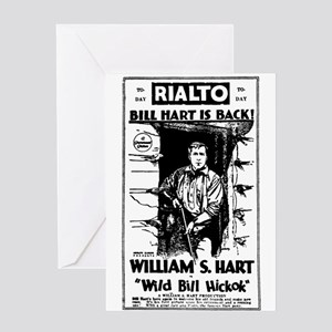 William S. Hart Wild Bill Hickok Greeting Card