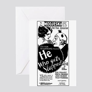 Lon Chaney Norma Shearer Greeting Card