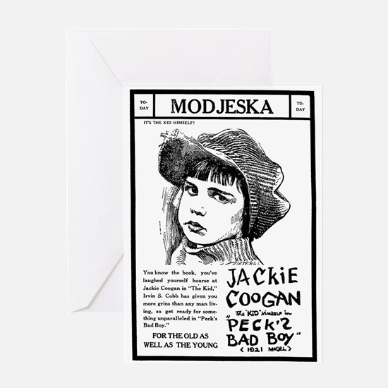 Jackie Coogan Peck's Bad Boy Greeting Card
