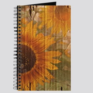rustic western country sunflower Journal