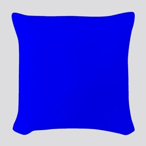 JUST COLORS: ROYAL BLUE Woven Throw Pillow