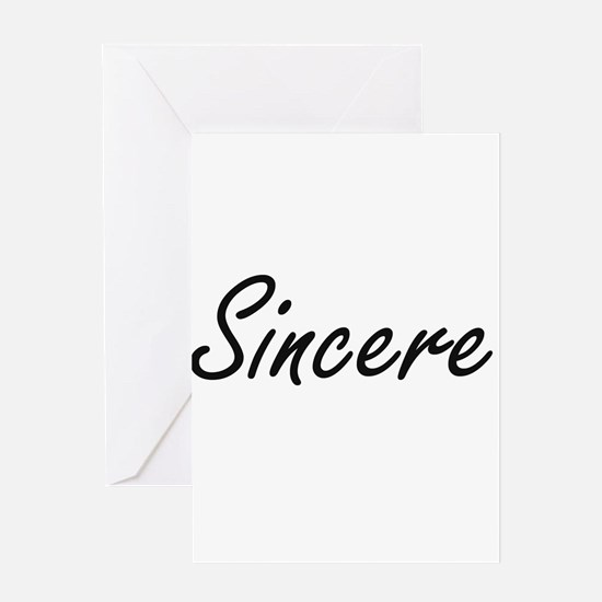 Sincere Artistic Name Design Greeting Cards