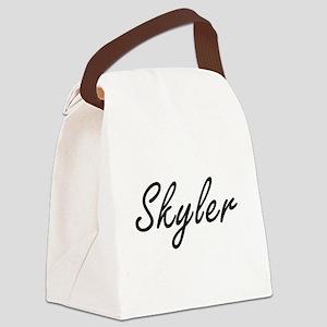 Skyler Artistic Name Design Canvas Lunch Bag