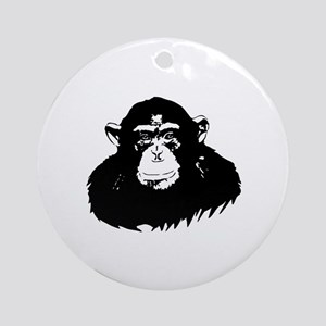 Chimp Round Ornament