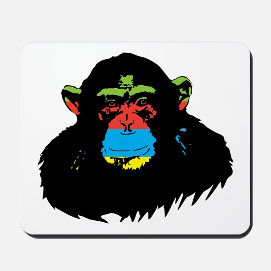 Rainbow Chimp Mousepad