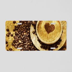 romantic modern coffee Aluminum License Plate