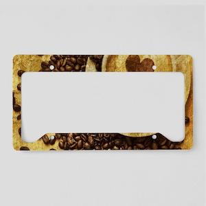 romantic modern coffee License Plate Holder