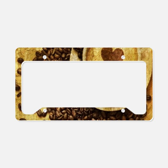 romantic modern coffee License Plate Holder