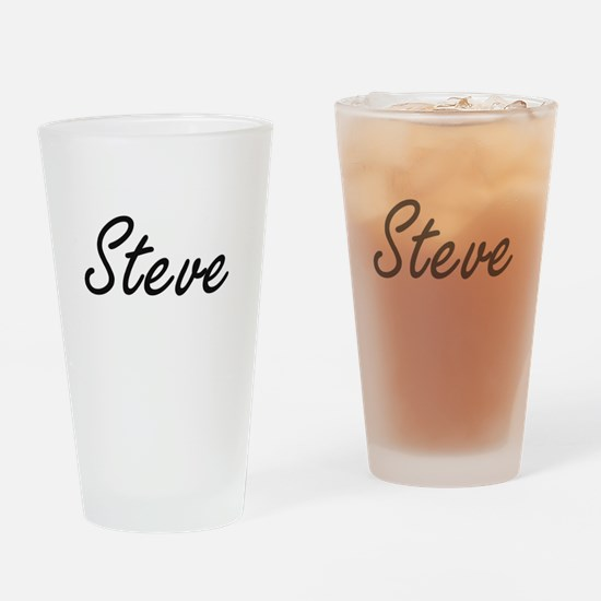 Steve Artistic Name Design Drinking Glass