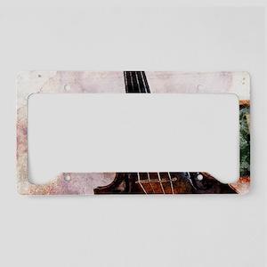 classic music violin License Plate Holder