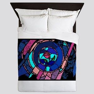 Beauty & the Beast Stained Glass Rose Queen Duvet