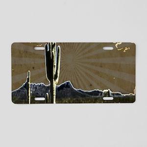 rustic desert southwestern Aluminum License Plate