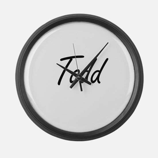 Todd Artistic Name Design Large Wall Clock