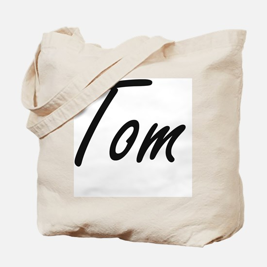 Tom Artistic Name Design Tote Bag