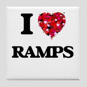 I Love Ramps Tile Coaster