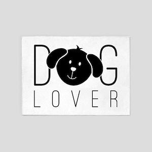 """Dog Lover"" 5'x7'Area Rug"