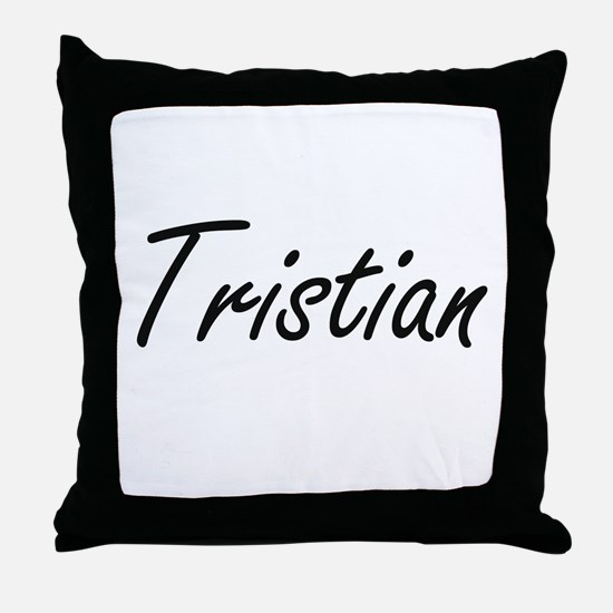 Tristian Artistic Name Design Throw Pillow