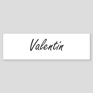 Valentin Artistic Name Design Bumper Sticker