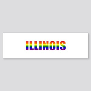 Illinois Pride Bumper Sticker