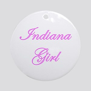 Indiana Girl Ornament (Round)
