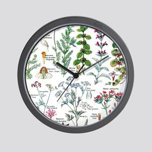 Botanical Illustrations - Larousse Plan Wall Clock