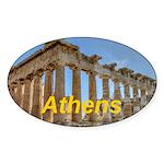 Athens Sticker (Oval 10 pk)