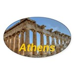 Athens Sticker (Oval)