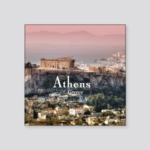 "Athens Square Sticker 3"" x 3"""