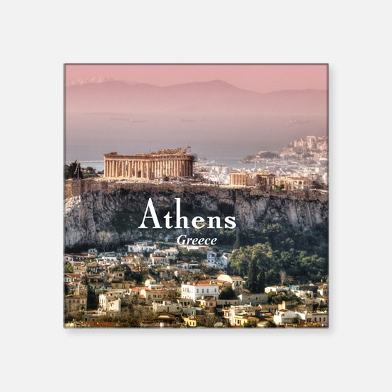 "Athens Square Sticker 3"" x 3"""