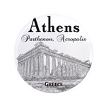 """Athens 3.5"""" Button (100 pack)"""