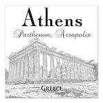 "Athens Square Car Magnet 3"" x 3"""