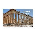 Athens Rectangle Car Magnet